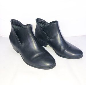 Jack Rogers Black Leather Ankle Booties 6